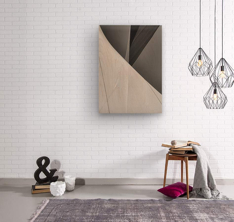 Abstract Sailcloth 2  Wood print