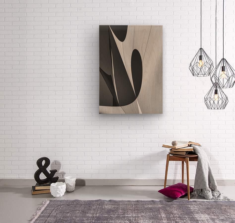 Abstract Sailcloth 10  Wood print