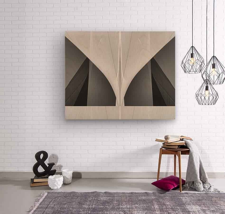 Abstract Sailcloth 1  Wood print