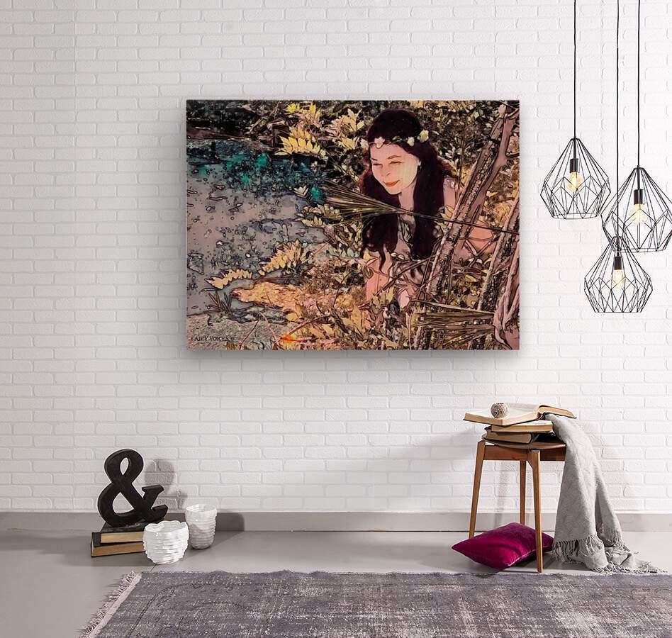 FAIRY AND THE LAKE  Art-Photo 1-4   Wood print
