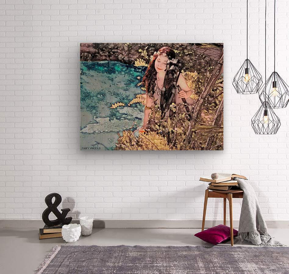 FAIRY AND THE LAKE - Art-Photo  2-4  Wood print