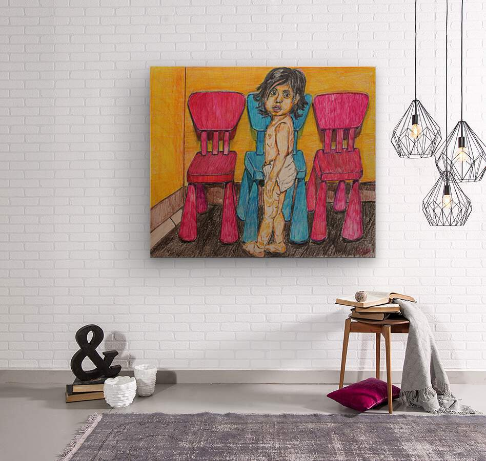 Bluepink  Wood print