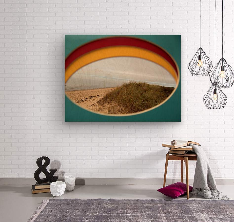 Absorbed-in-Ocean  Wood print