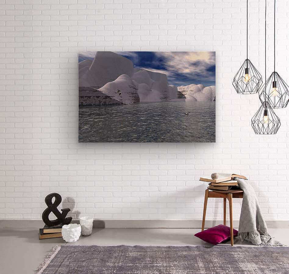 citadelle de glace  Wood print