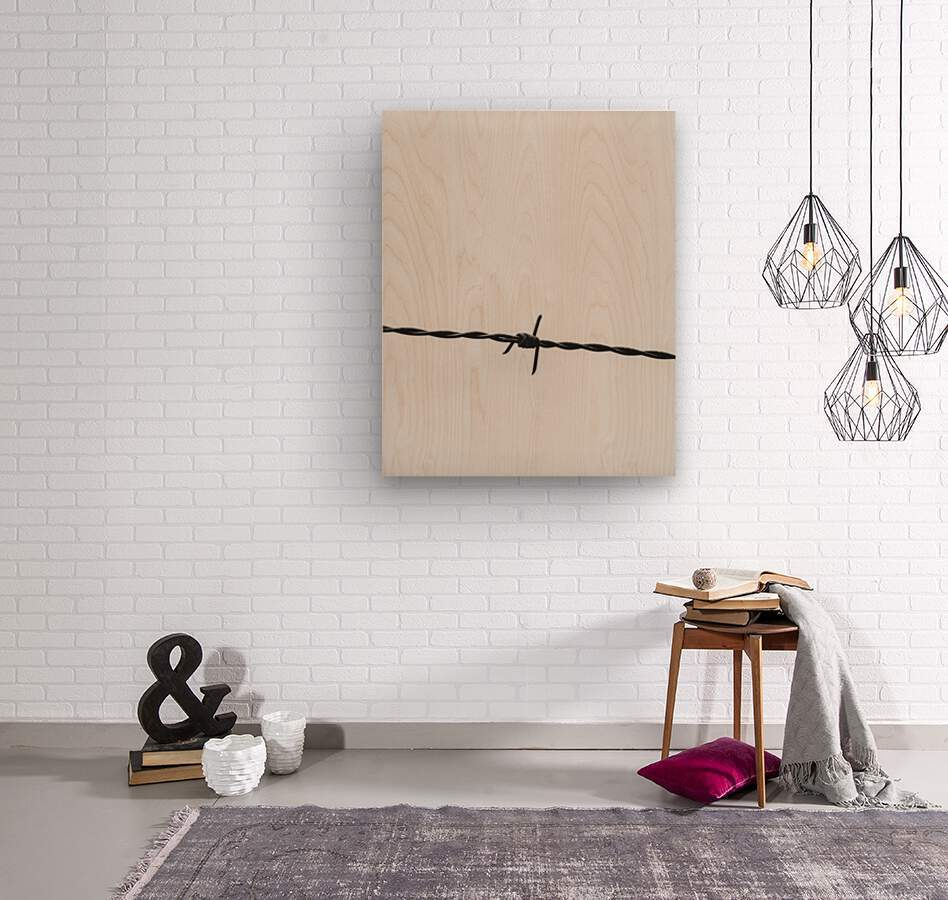 Wire  Wood print
