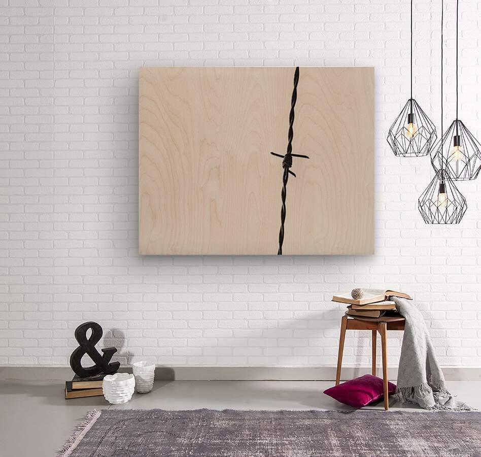 Simple Twist Of Wire  Wood print