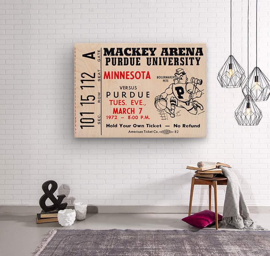 1972 Purdue Basketball Ticket Canvas  Wood print