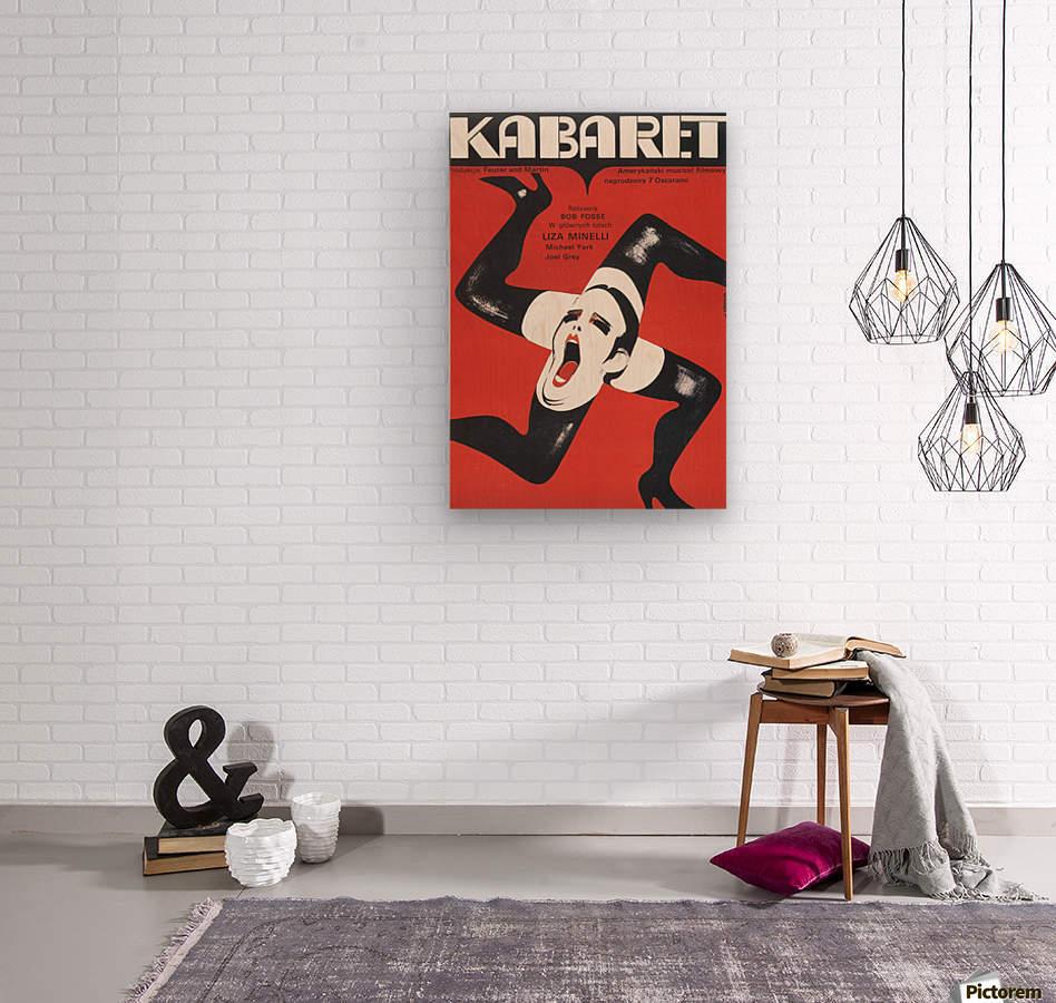 Polish Film Poster Cabaret Wiktor Gorka  Wood print