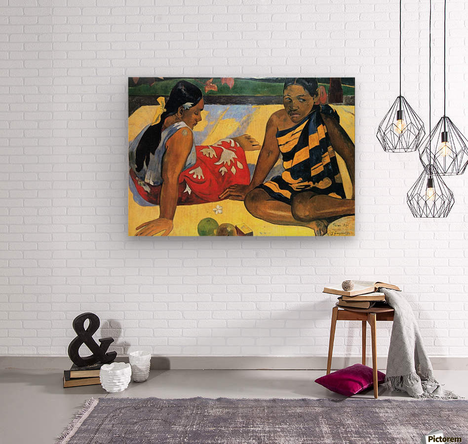 Two Women From Tahiti by Gauguin  Wood print