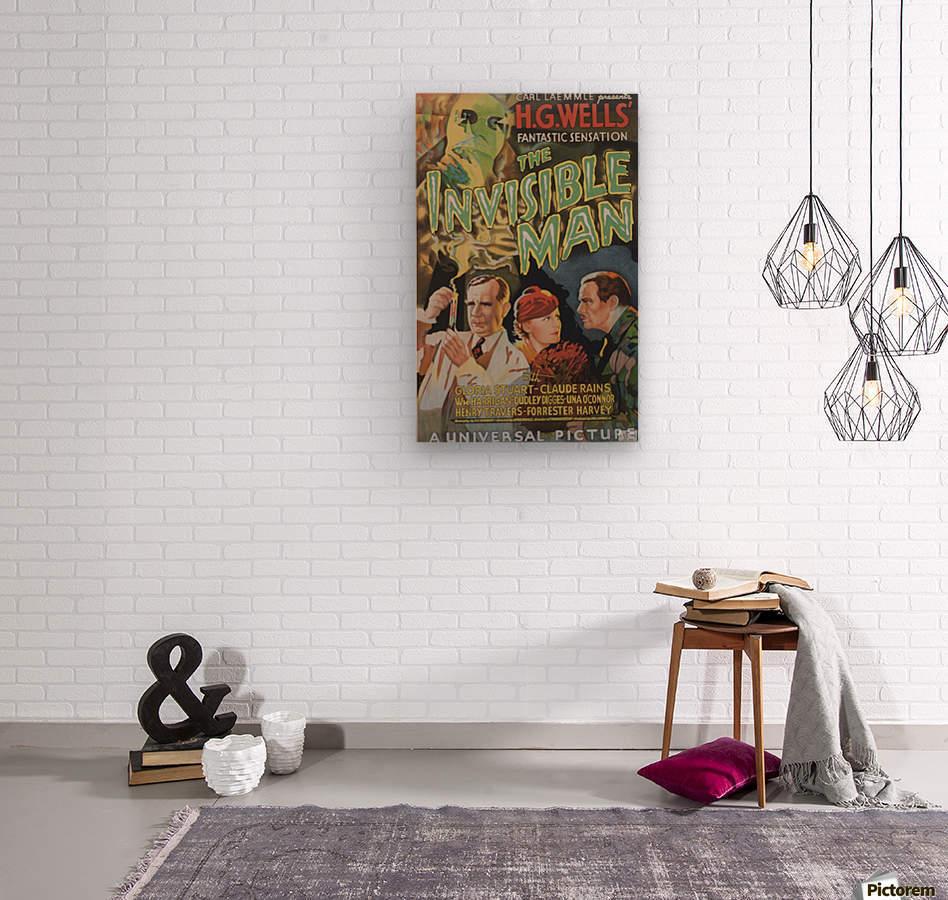 The Invisible Man Universal Picture Carl Laemmle vintage movie poster  Impression sur bois