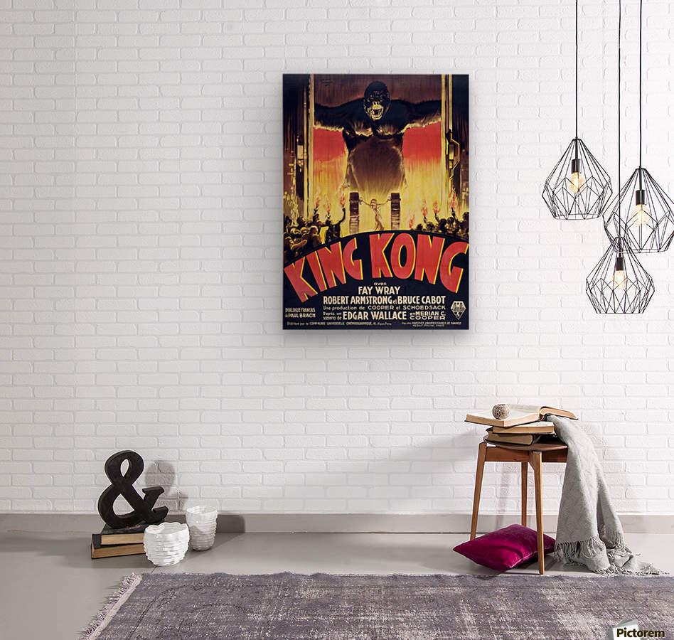 King Kong Vintage Poster  Wood print