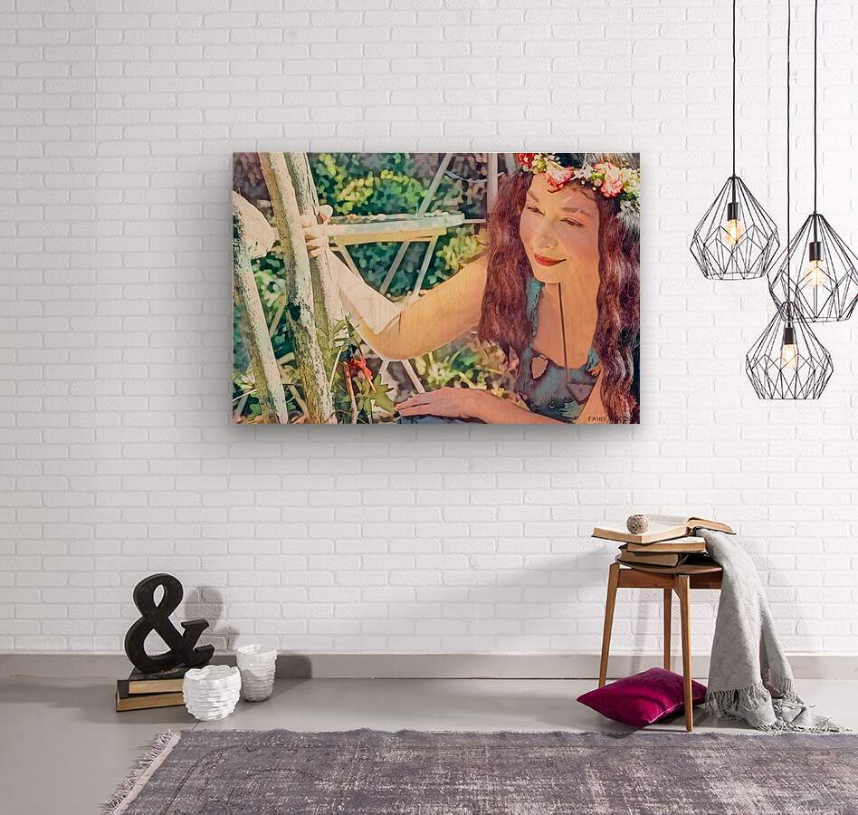 A TINY BEING WITH A BIG MISSION  Photo - Art Collection  3-6  Wood print