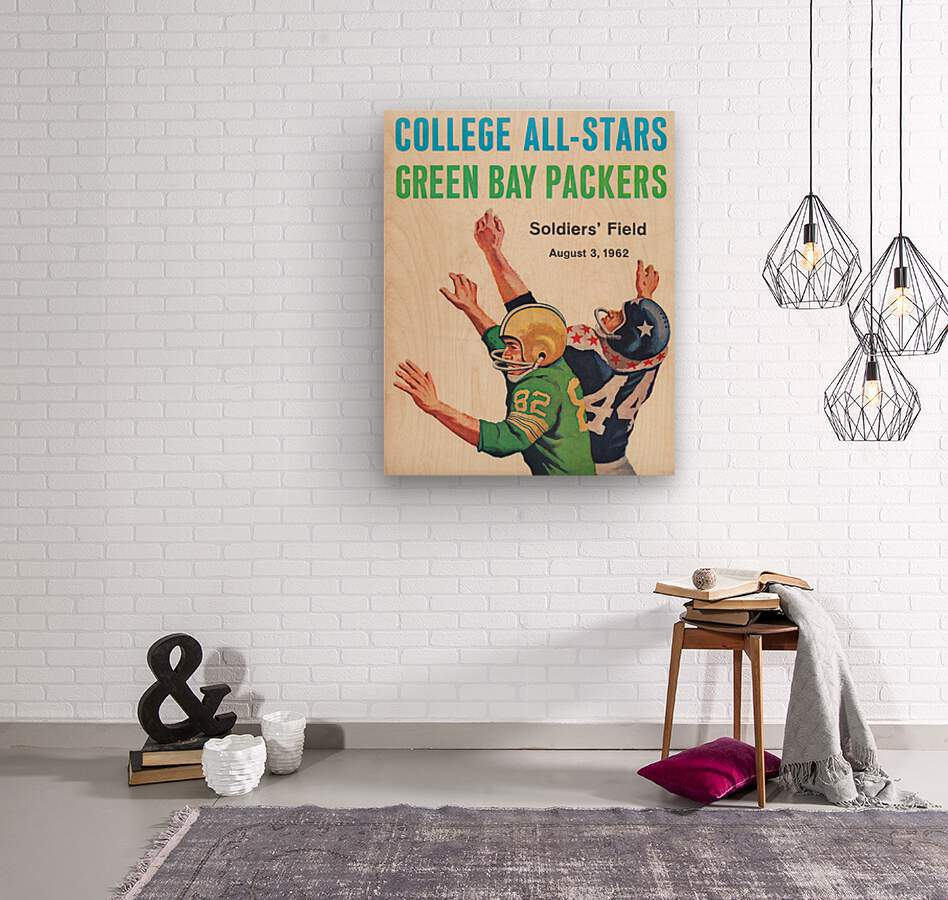 1962 Green Bay Packers vs. College All-Stars  Wood print