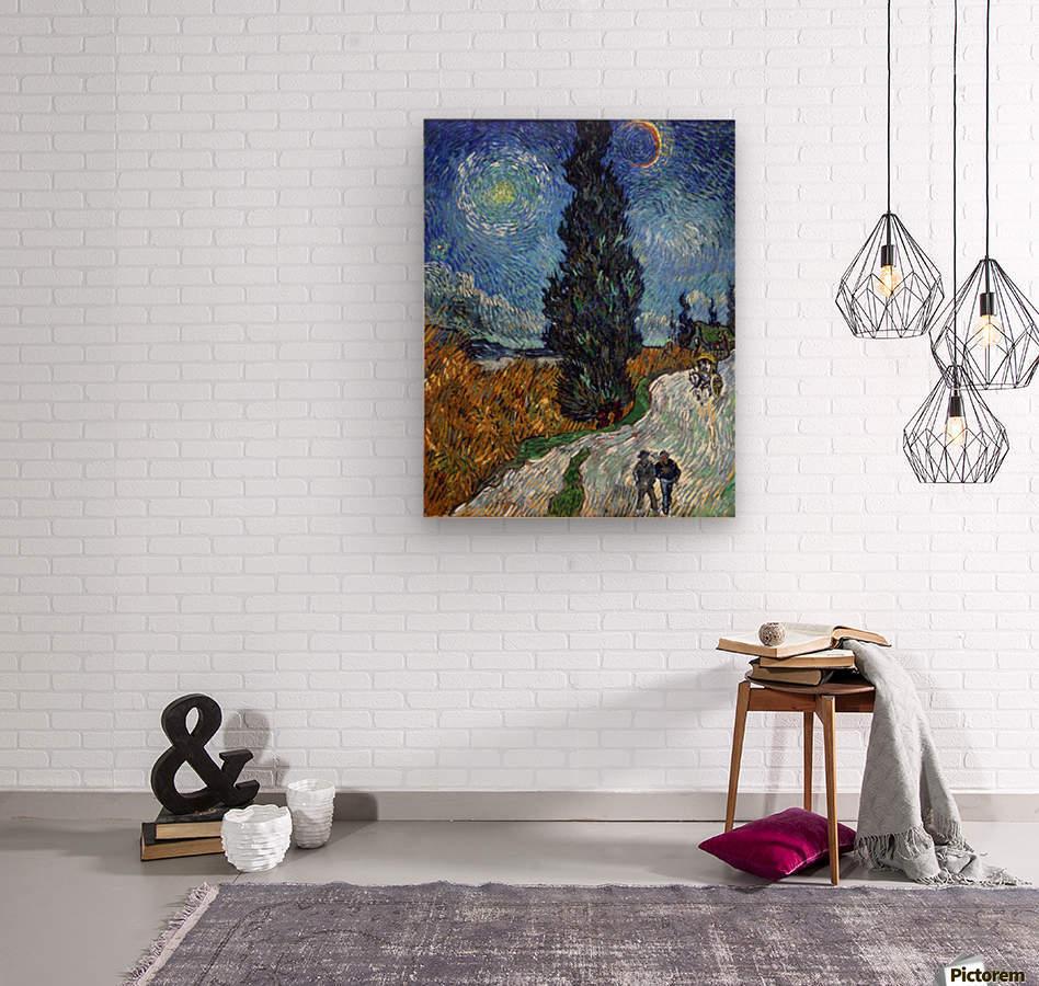 Van_Gogh   Country Road In Provence Night By Van Gogh Wood Print ...