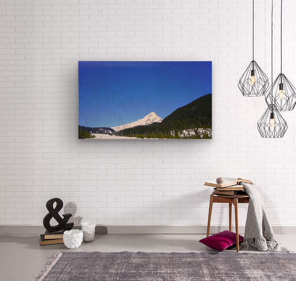 Clear Day in the Mountains - Mount Hood  - Oregon  Wood print