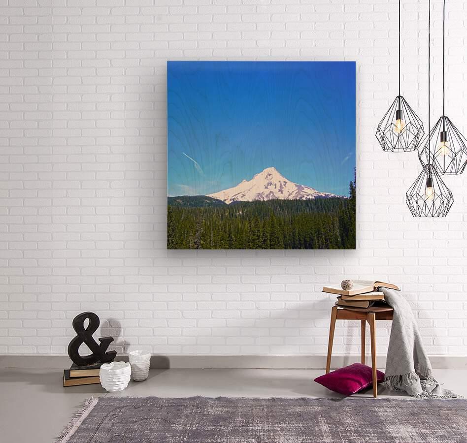 Mount Hood in Spring  Wood print
