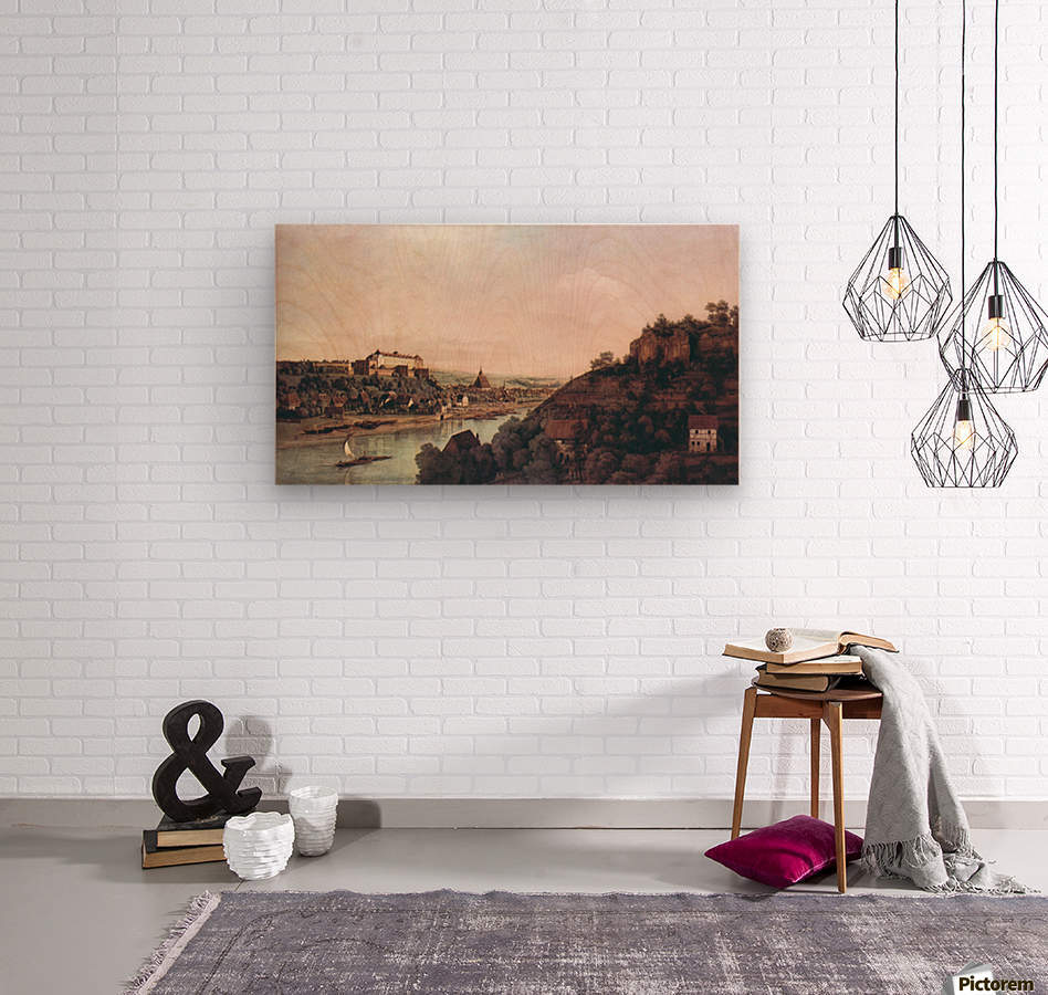 View of Pirna -1- by Canaletto  Wood print
