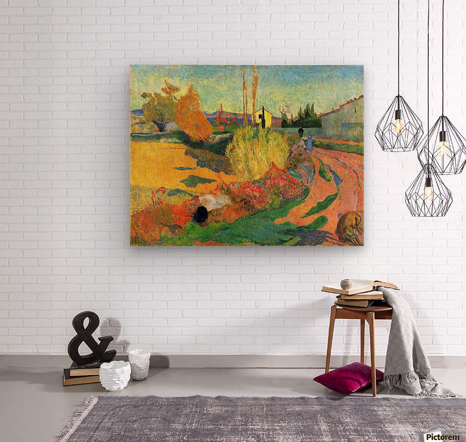 Von Arles by Gauguin  Wood print