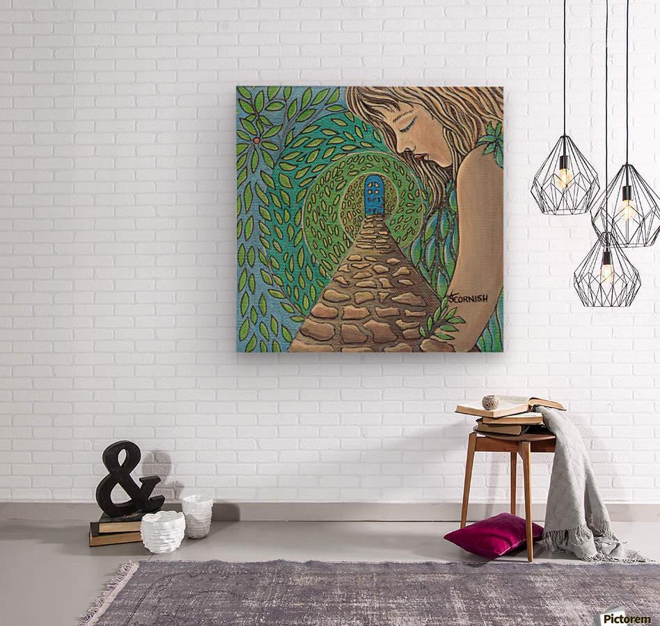 The Growing Garden  Wood print