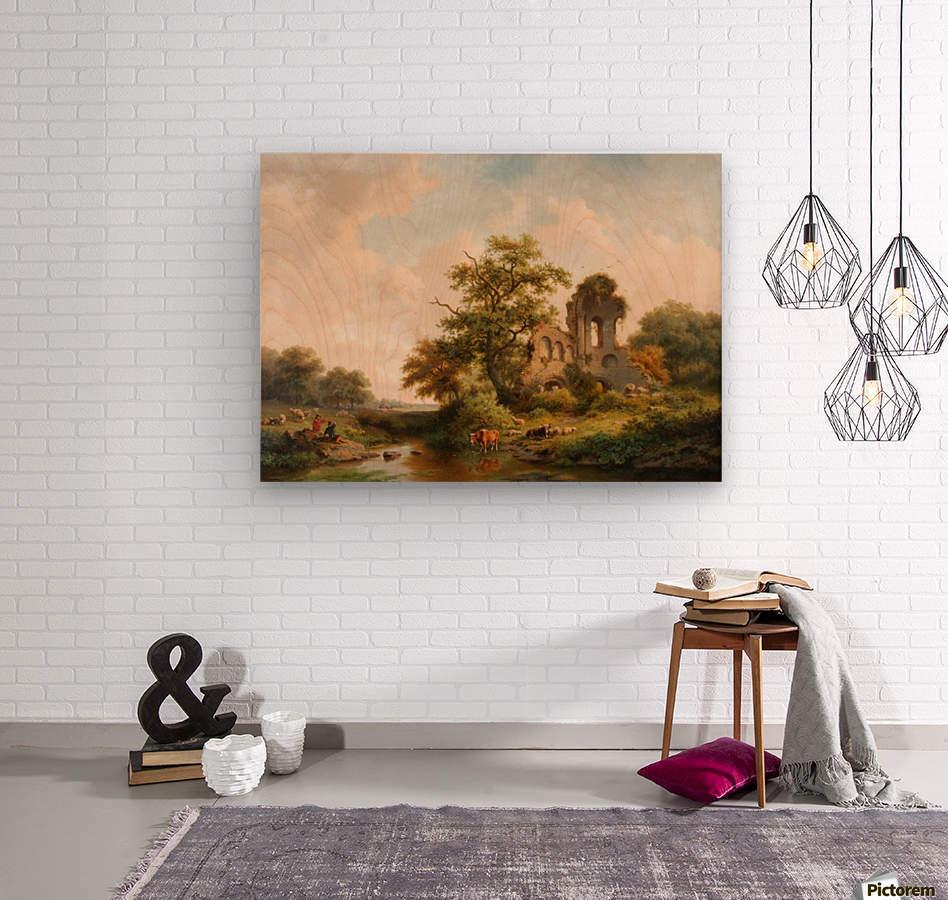 Fantasielandschap met ruine  Wood print