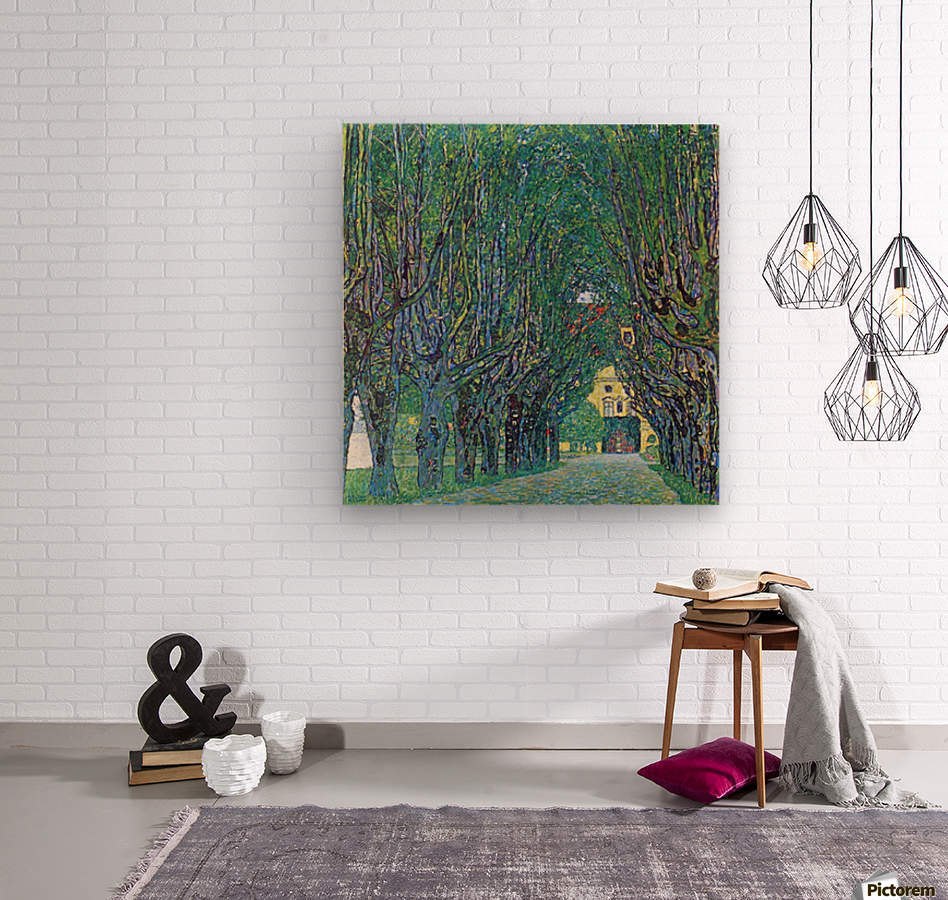 Way to the Park by Klimt  Wood print