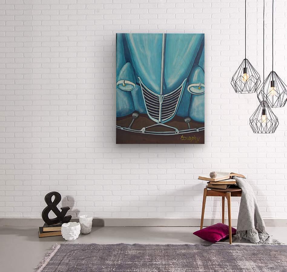 Blue 32   Wood print