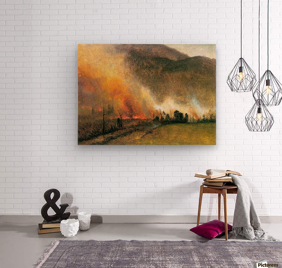 White Mountains, New hampshire 1 by Bierstadt  Wood print