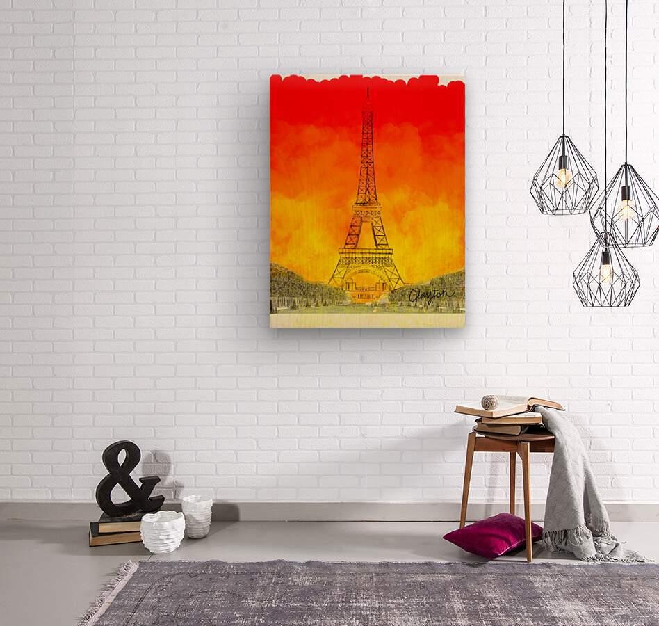 Eiffel Tower. Clayton T  Wood print