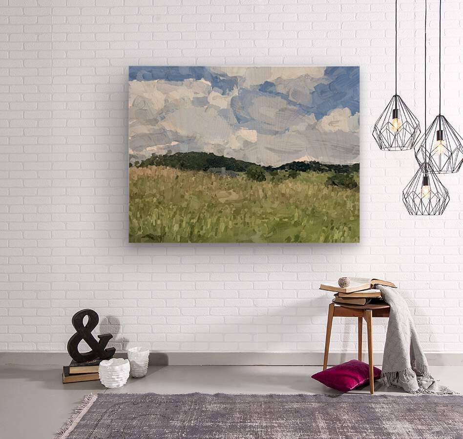 Clouds Over Parkton  Wood print