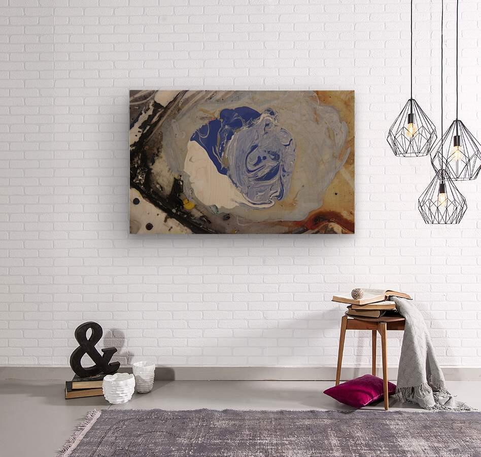 abstract women  Wood print