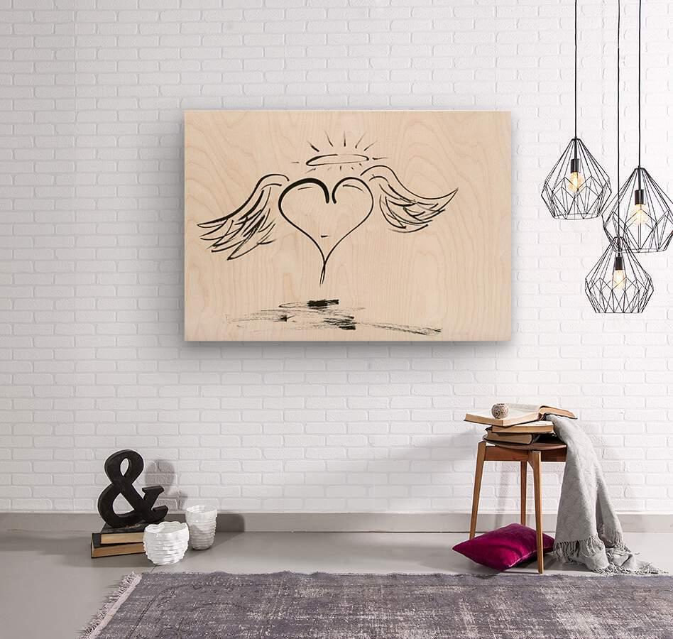 2020 heart angel  Wood print