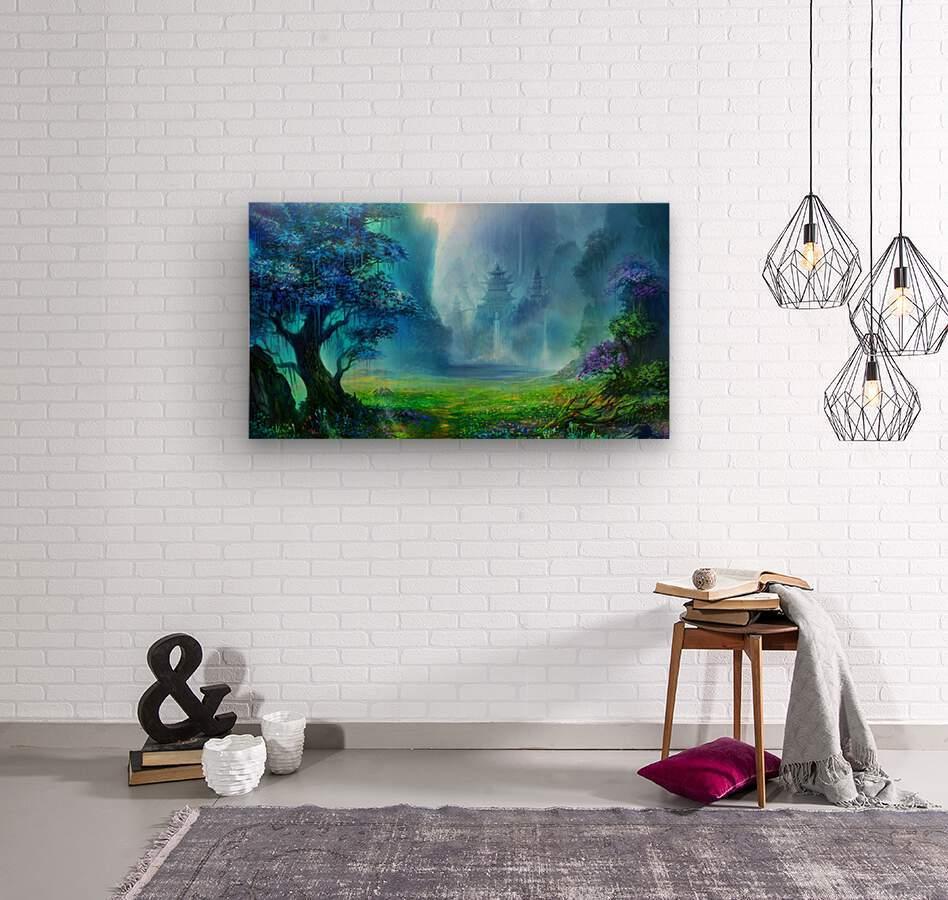 Blue Ravine  Wood print