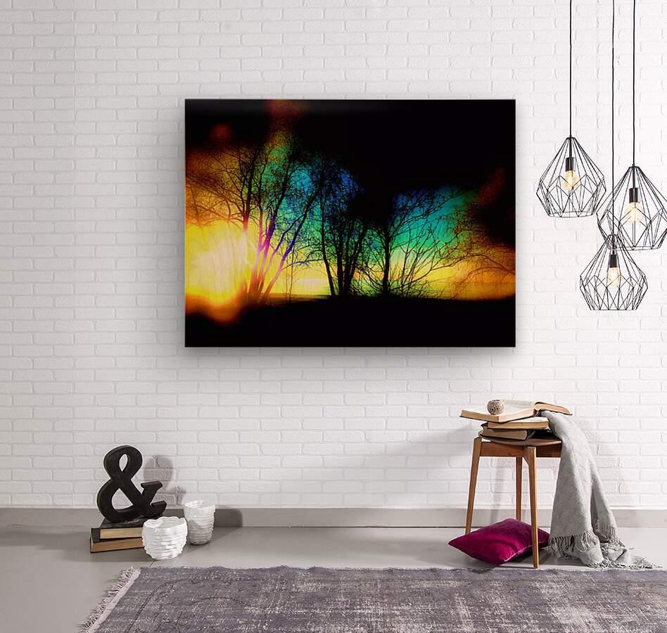 Evening tree  Wood print