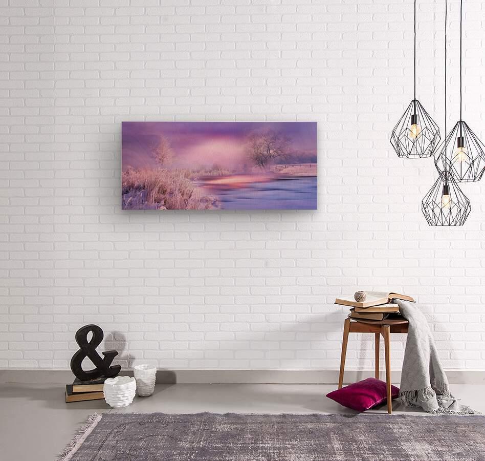 Dreaming In Purple  Wood print