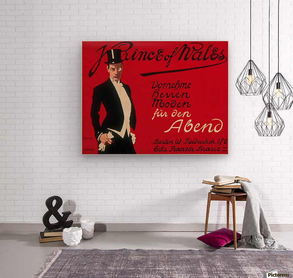 Prince of Wales Original Vintage Poster  Wood print