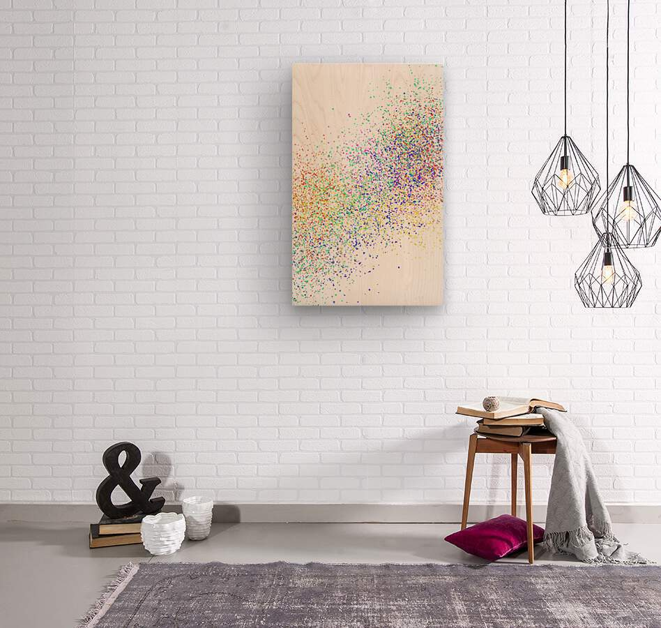 ABSTRACT PAINTING 47  Wood print