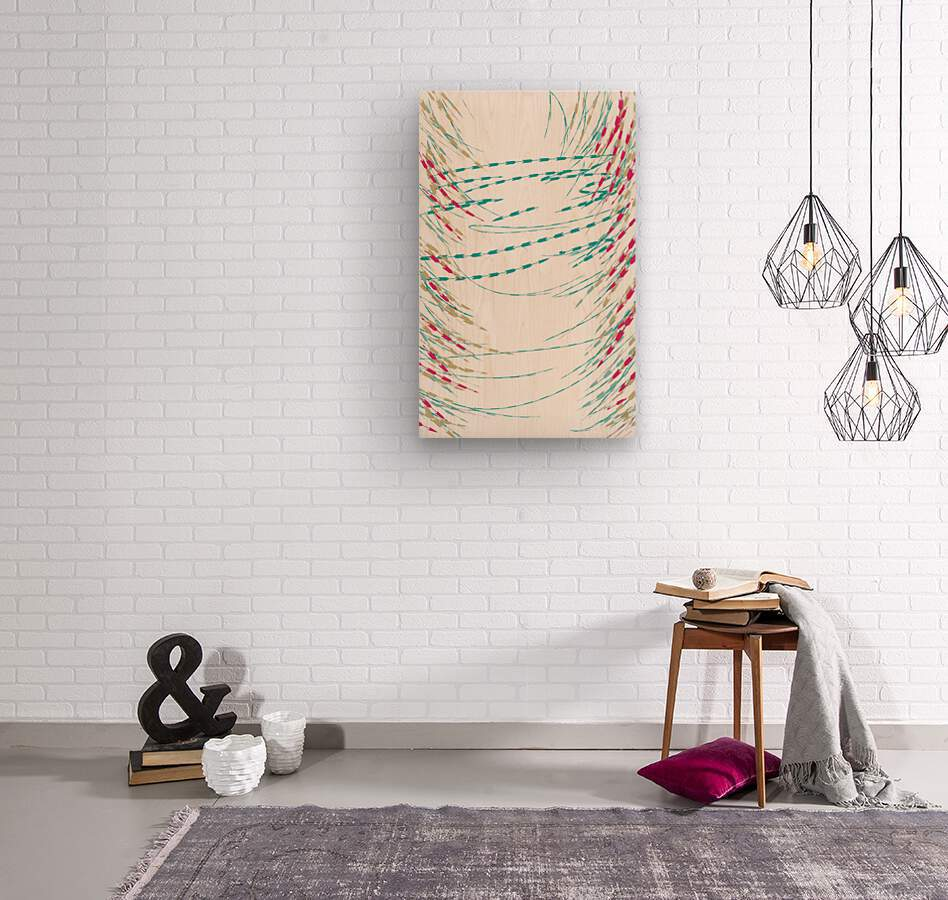 ABSTRACT PAINTING 75  Wood print