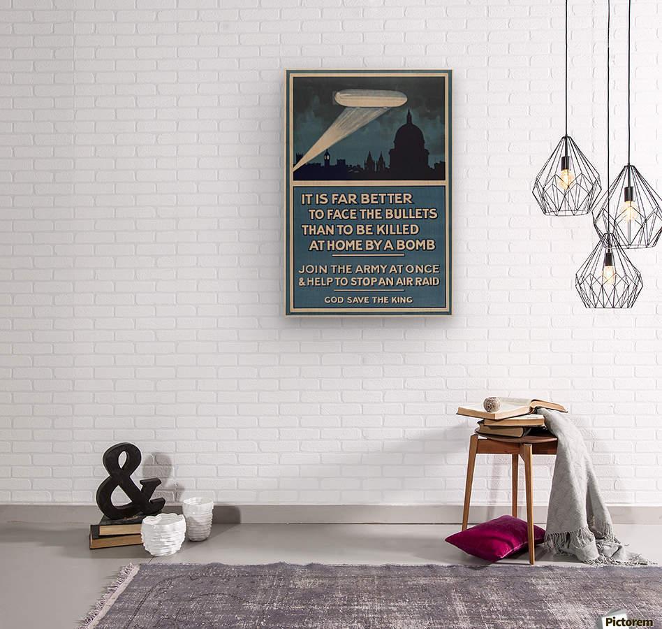 World War I poster  Wood print