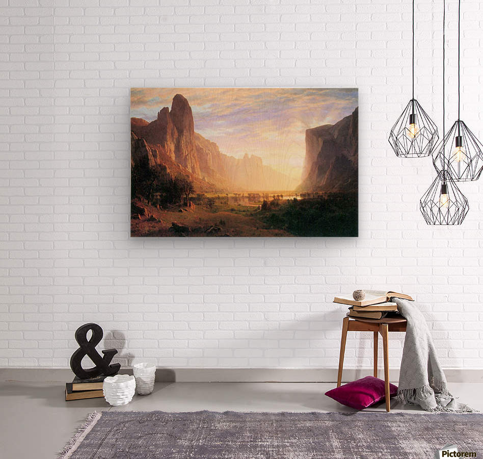 Yosemite Valley 3 by Bierstadt  Wood print