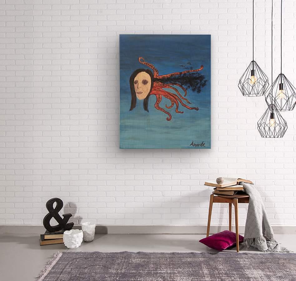 Psychoanalysis Portrait  Wood print