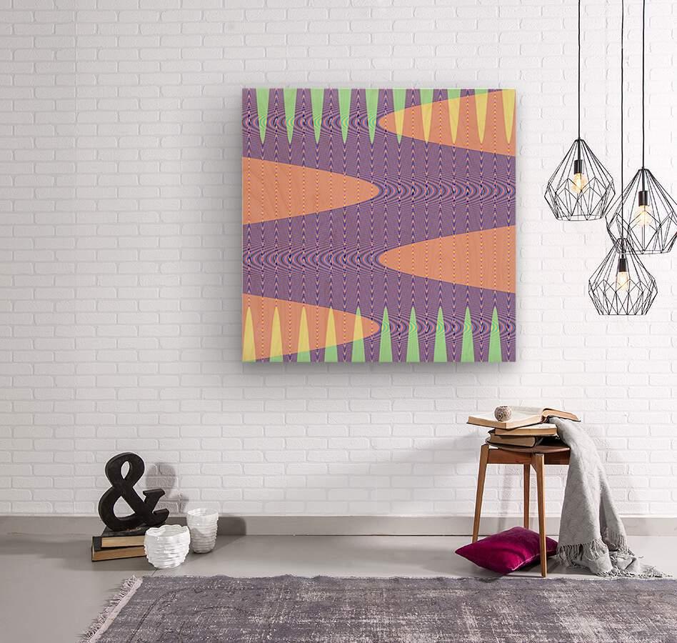 purple path  Wood print