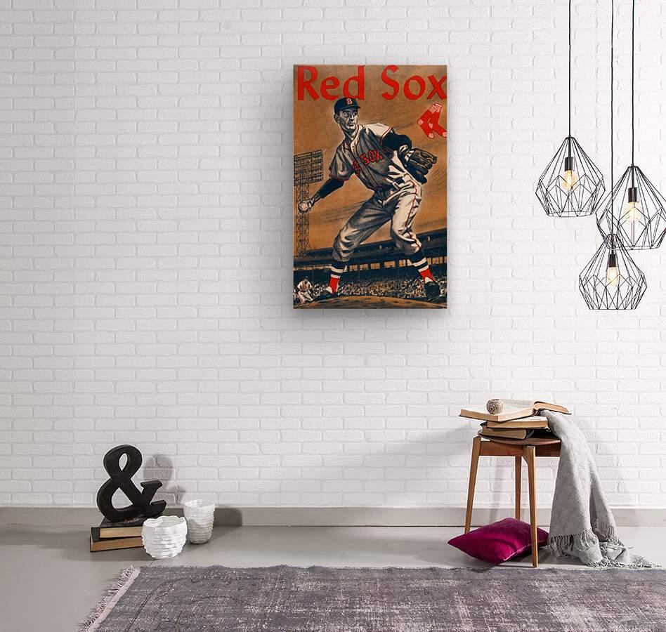 1960 Boston Red Sox Remix Art  Wood print