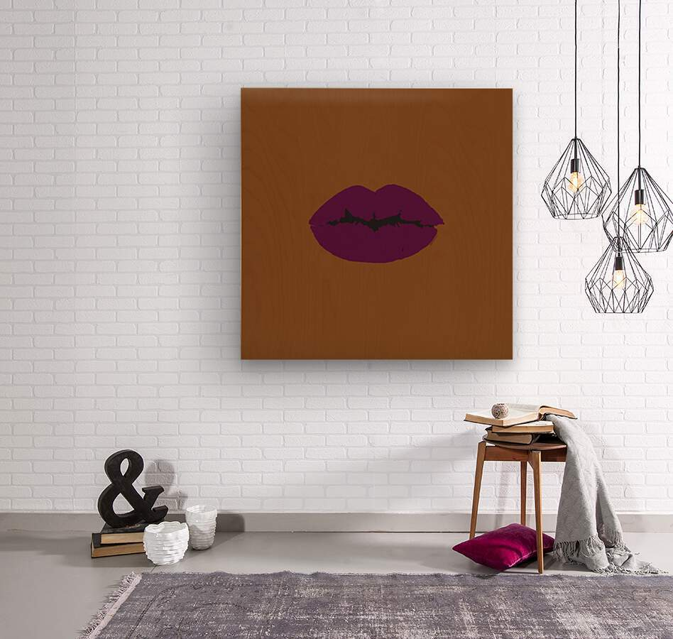 Dark Cherry  Wood print
