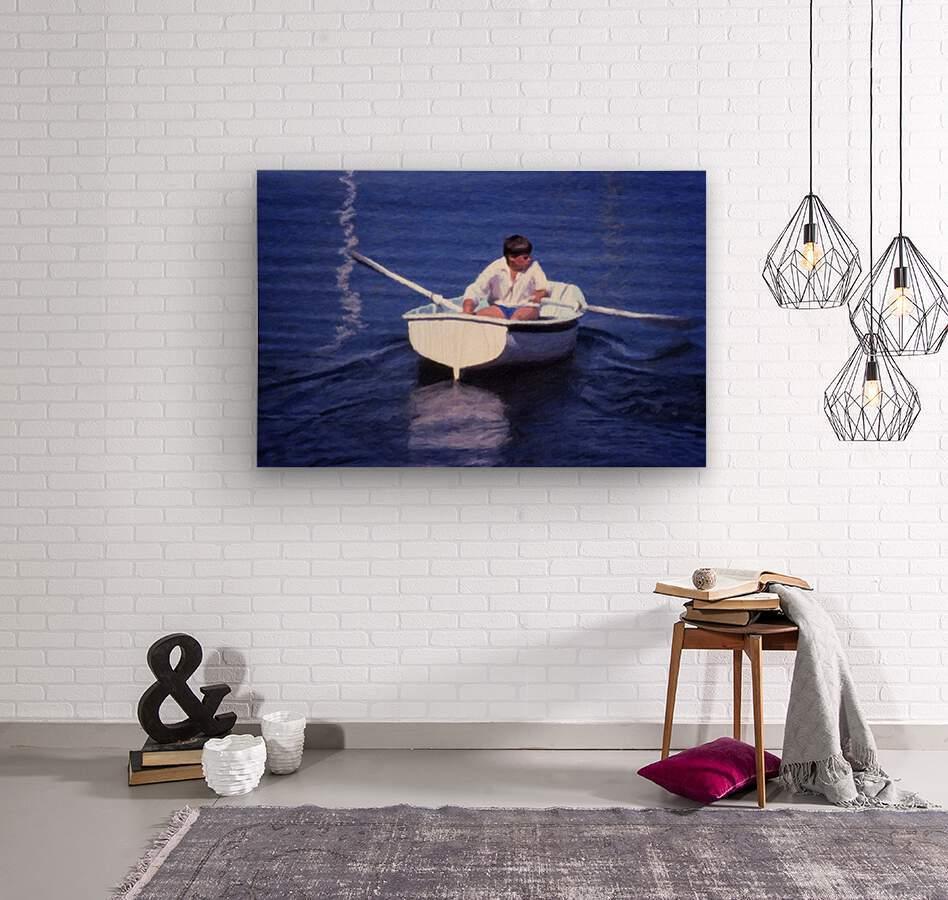 Rower  Wood print