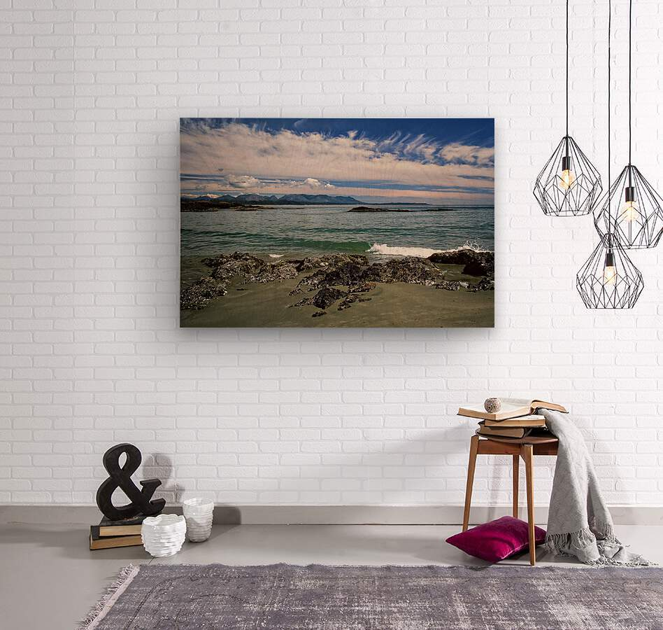 Peaceful Pacific Beach  Wood print