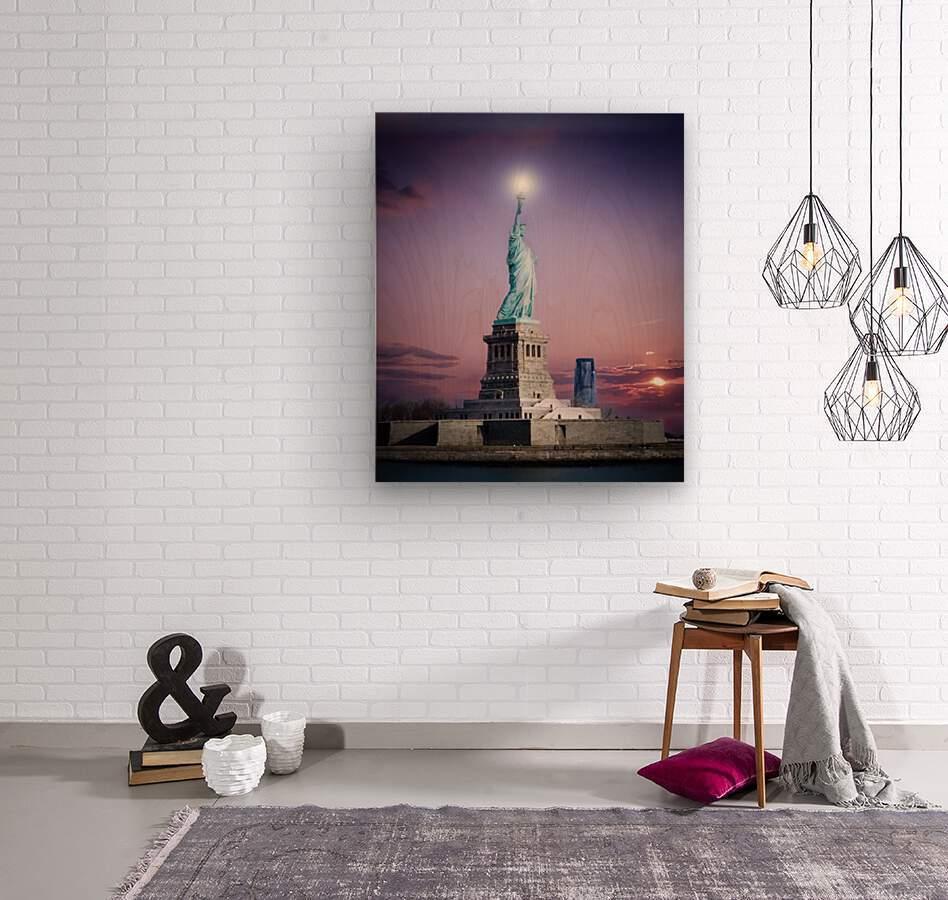 Liberty1  Wood print