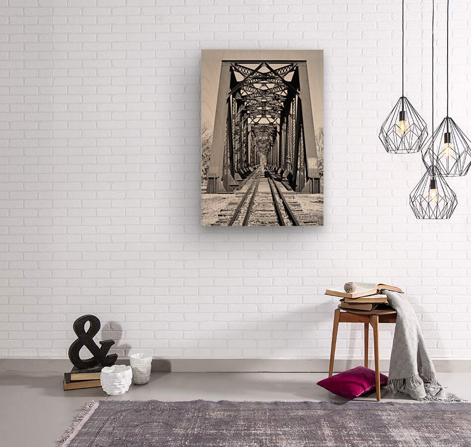 The Trestle  Wood print