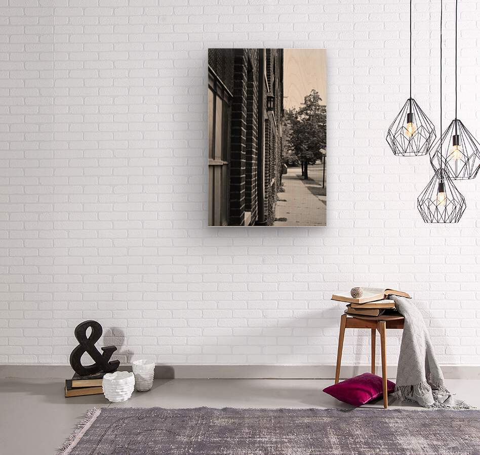 Quiet Street  Wood print