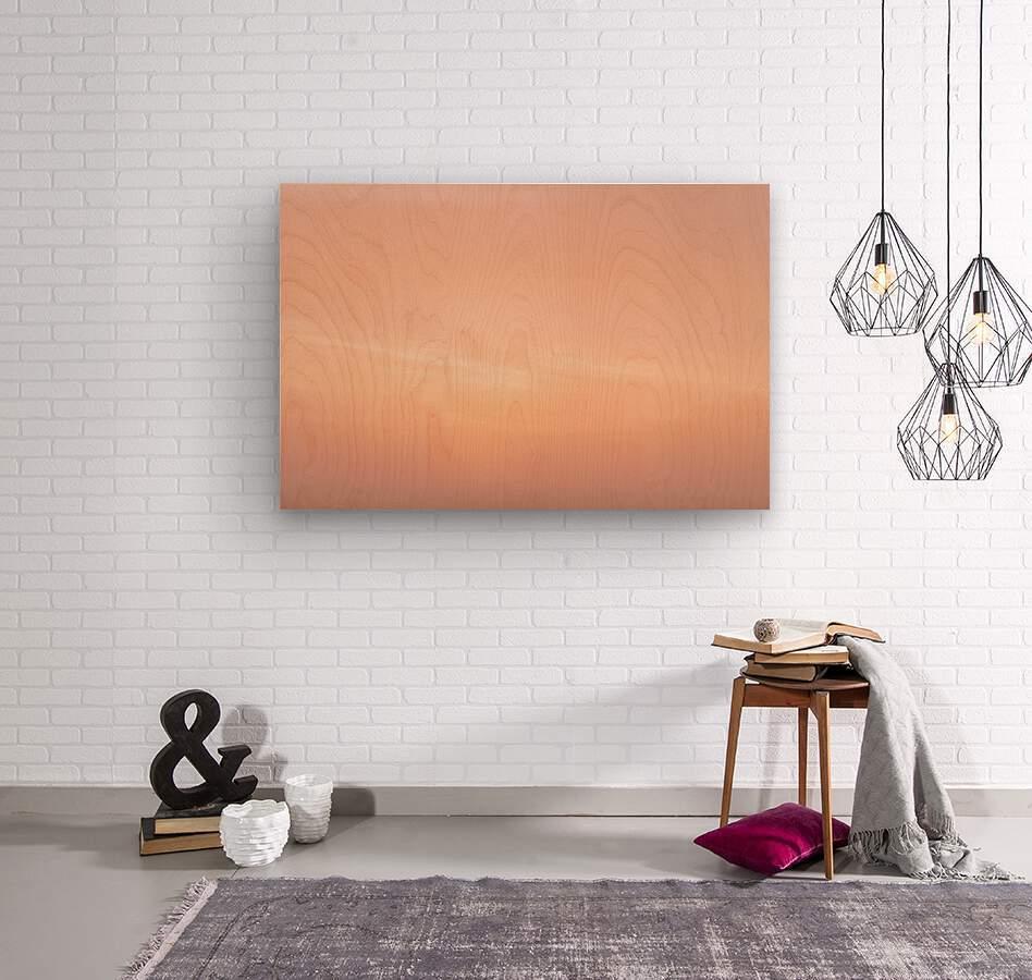 Pastel clouds  Wood print