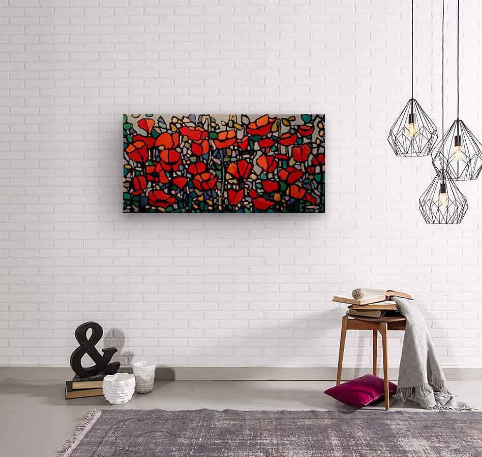 Poppies 1  Wood print